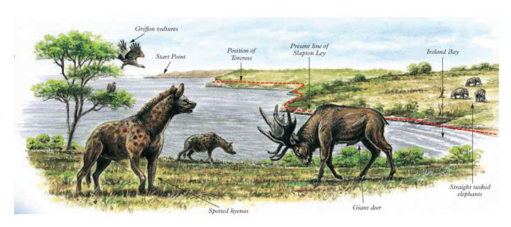 Hyena-and-deer-on-great-plains