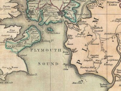 J 2 Plymouth Sound taken from Benjamin Donn map 1765