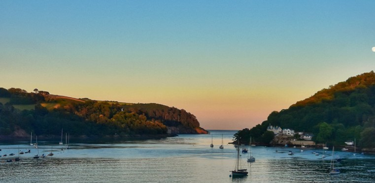 Dusk across the River Dart - Dartmouth